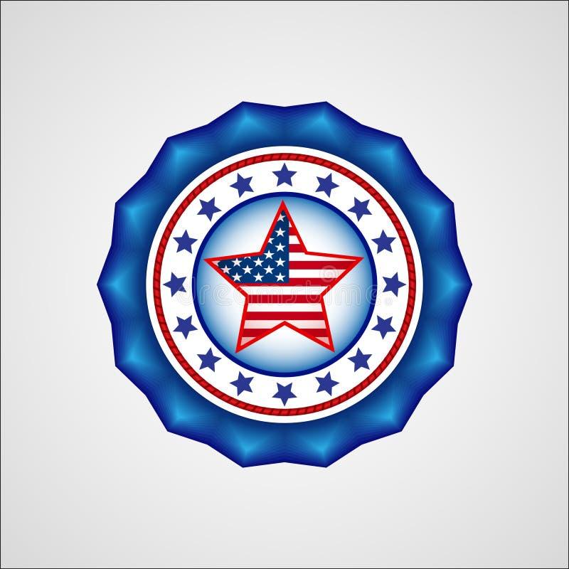 De Amerikaanse Dag van de Onafhankelijkheid Vakantiekenteken vector illustratie