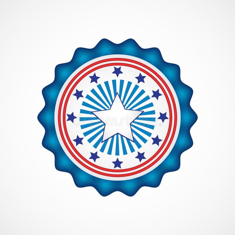 De Amerikaanse Dag van de Onafhankelijkheid Vakantiekentekens vector illustratie