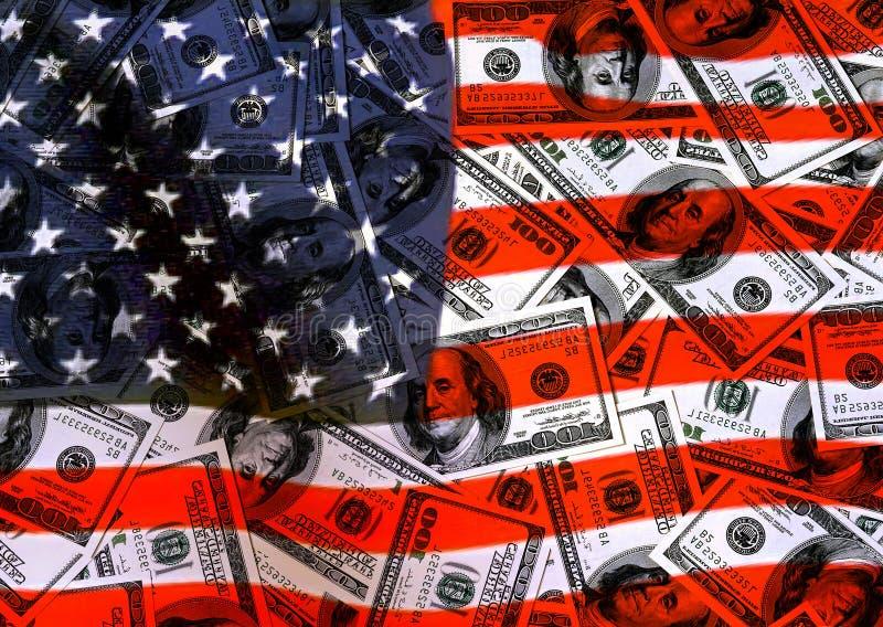 De Amerikaanse dollars van de munt vector illustratie