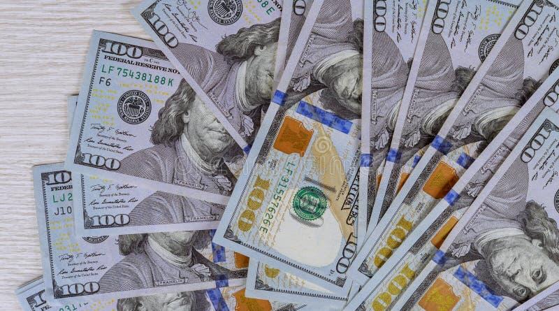 De Amerikaanse geldpartij van dollars sluit omhoog royalty-vrije stock afbeelding