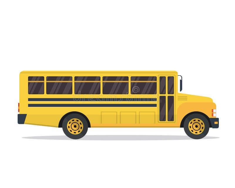 De Amerikaanse Gele Illustratie van de Schoolbus stock illustratie
