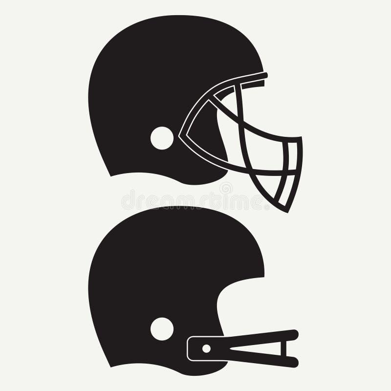 De Amerikaanse Helm van de Voetbal Reeks van sportpictogram Vector vector illustratie