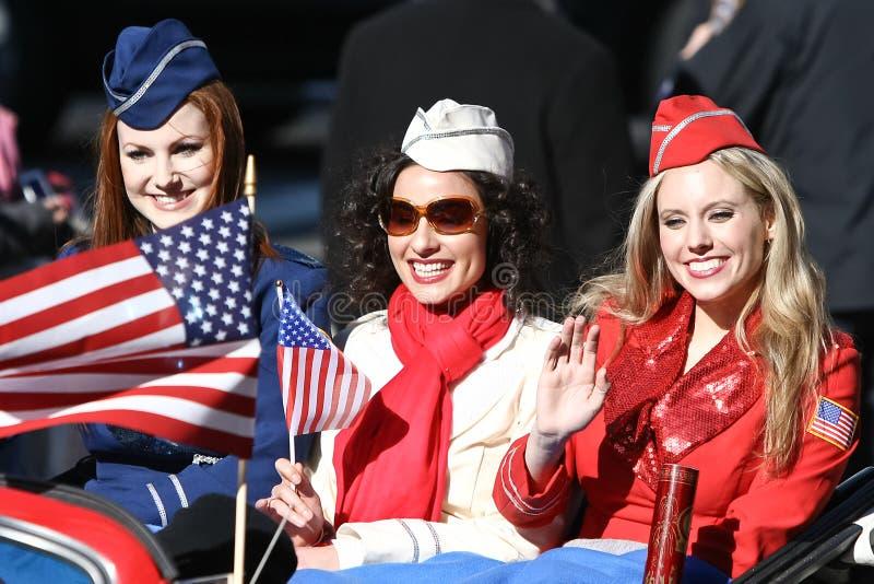 De Amerikaanse Meisjes van de Militair stock fotografie