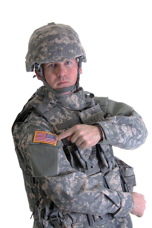 De Amerikaanse Militair van het Gevecht