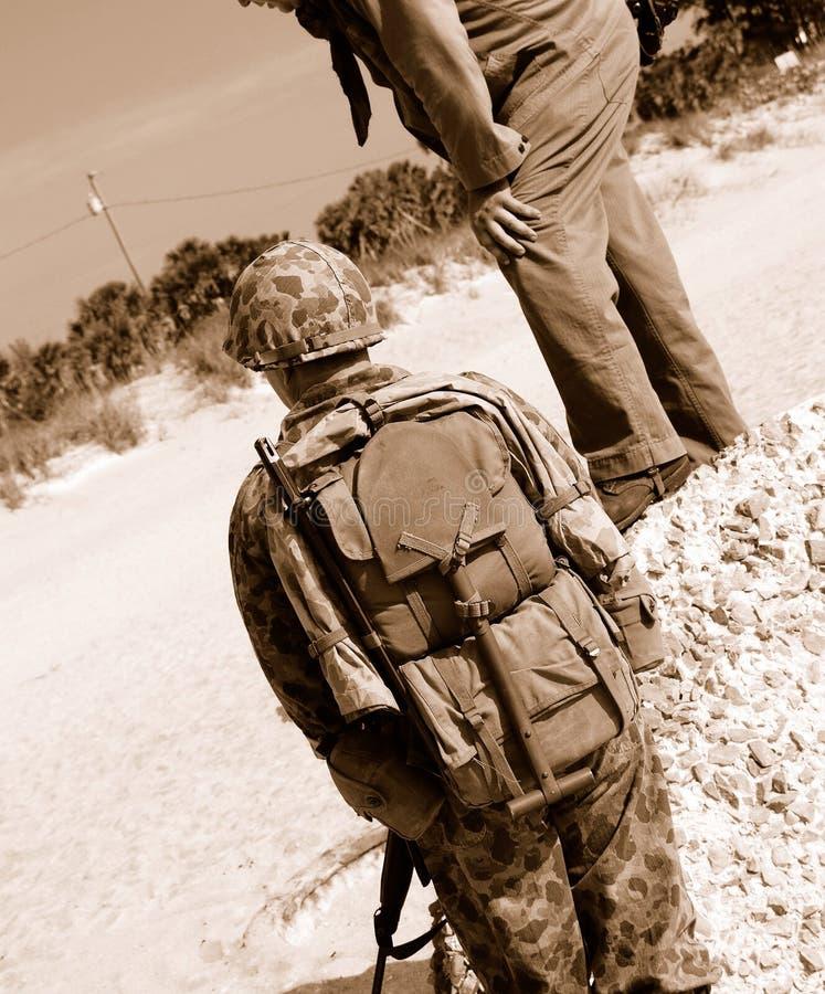 De Amerikaanse Militairen Van WO.II Royalty-vrije Stock Foto's