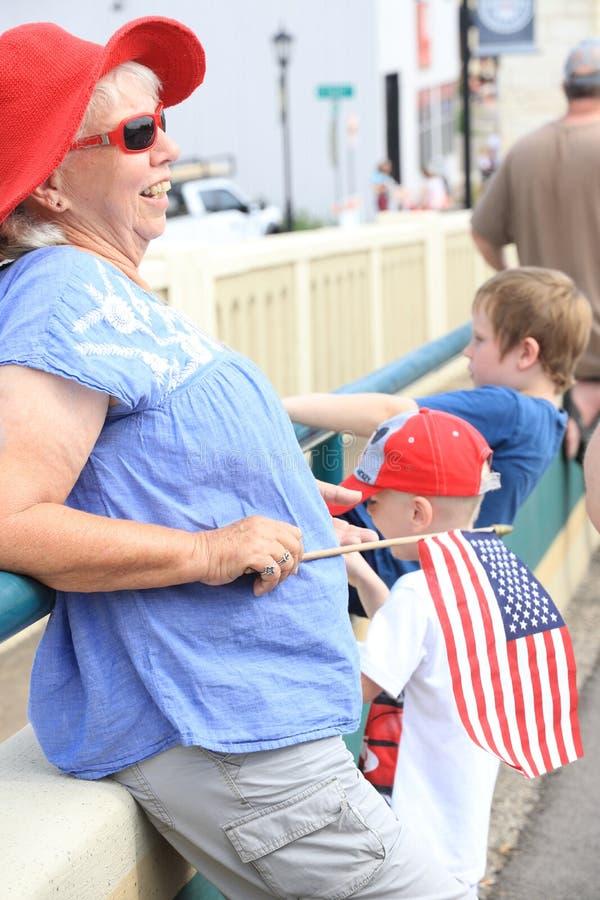 De Amerikaanse parade van de Onafhankelijkheidsdag stock fotografie