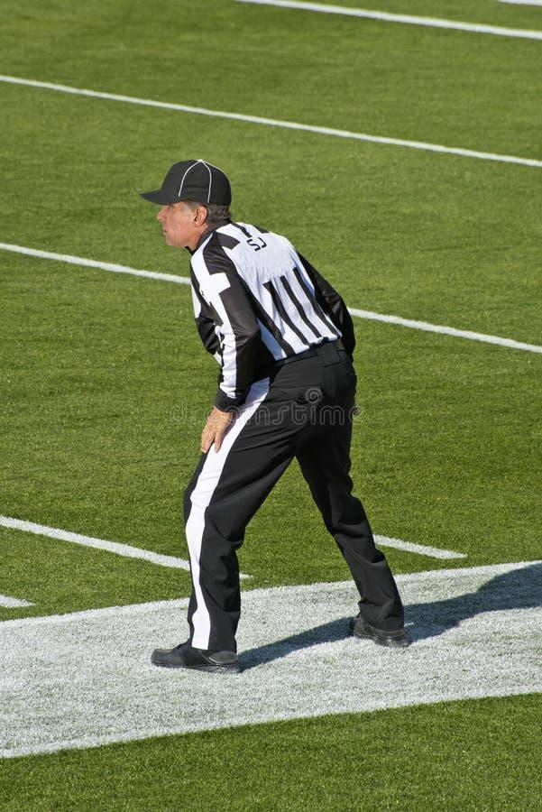De Amerikaanse Scheidsrechter van de Voetbal NFL stock afbeelding