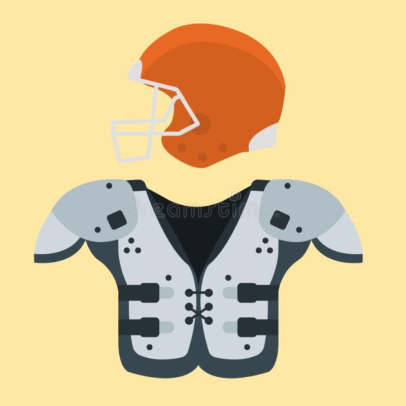 De Amerikaanse van het spelpictogrammen van de voetbalster eenvormige sport van de het beeldverhaalstijl vector van het de strate vector illustratie
