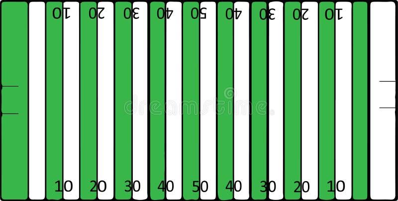 De Amerikaanse vector van het voetbalgebied op kleurenachtergrond stock illustratie