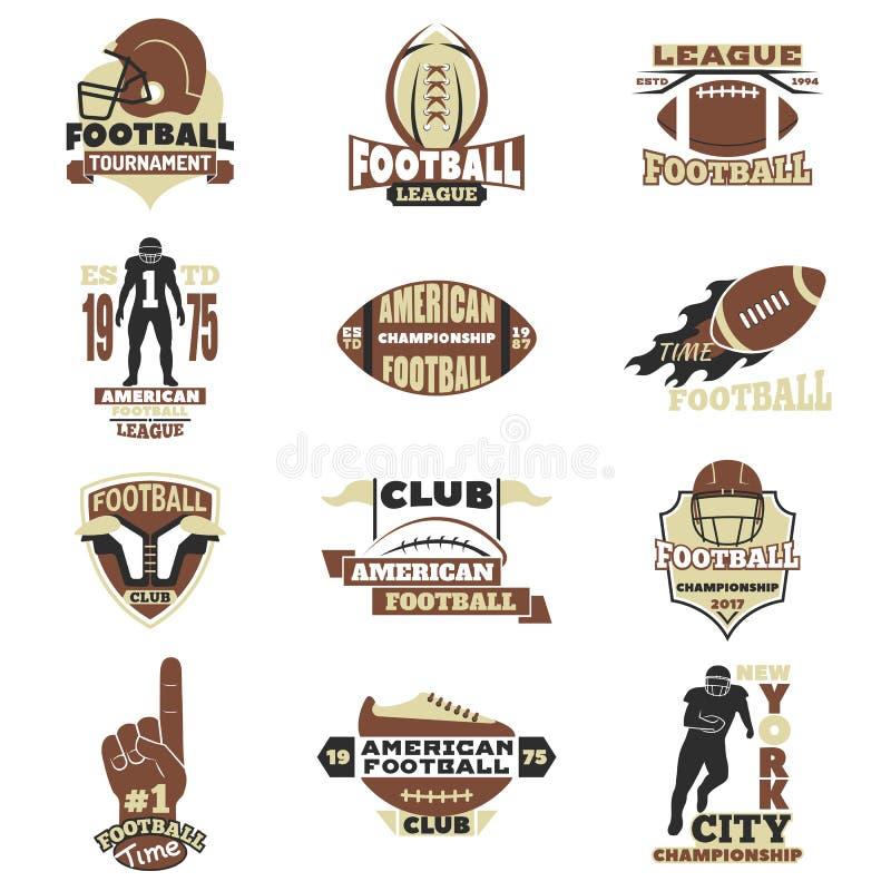 De Amerikaanse vectorreeks van het voetbalteken stock illustratie