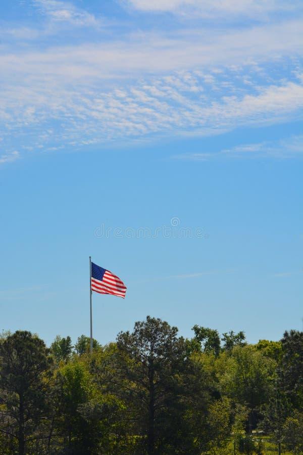 De Amerikaanse Vlag, de Sterren en de Strepen, het Rood, het Wit en het Blauw stock foto