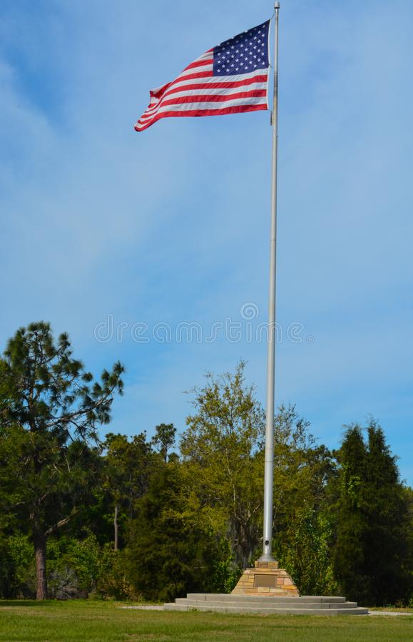 De Amerikaanse Vlag, de Sterren en de Strepen, het Rood, het Wit en het Blauw stock foto's