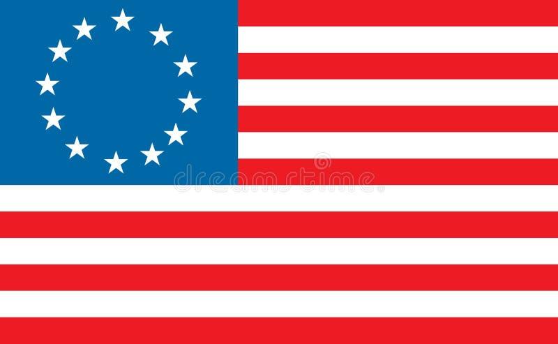 De Amerikaanse vlag van Betty Ross royalty-vrije stock foto's