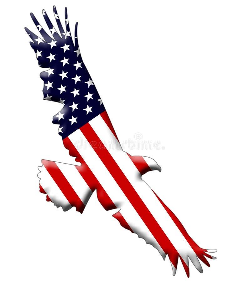 De Amerikaanse vlag van de Adelaar stock illustratie