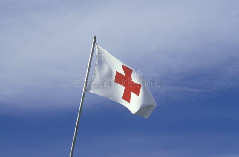De Amerikaanse vlag van het Rode Kruis stock fotografie
