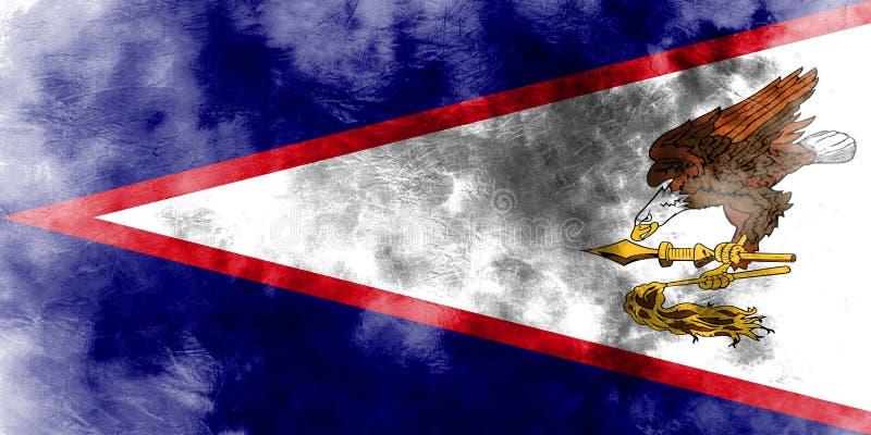 De Amerikaanse vlag van Samoa grunge, FL van het grondgebied van Verenigde Staten afhankelijk vector illustratie