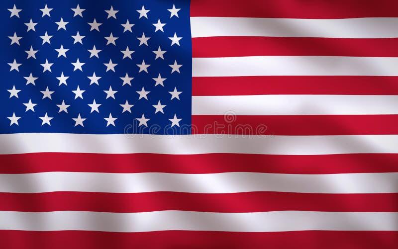 De Amerikaanse Vlag van Verenigde Staten stock illustratie