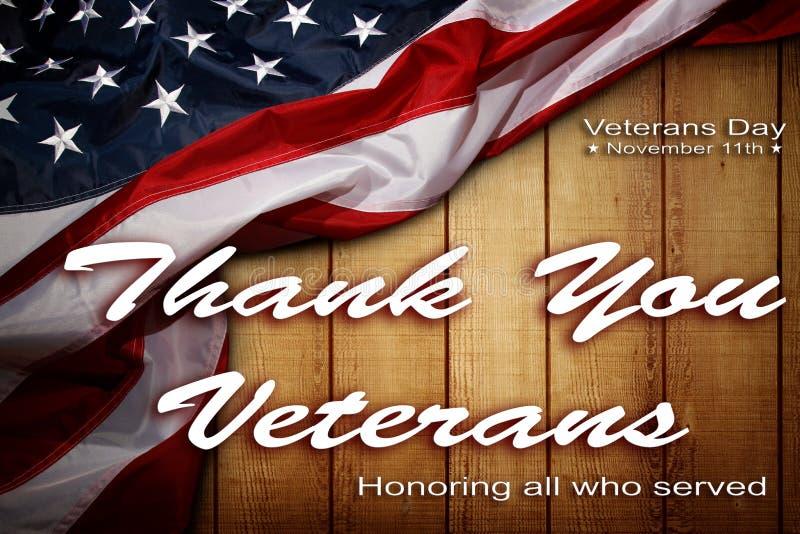 De Amerikaanse vlag van de veteranendag stock foto's
