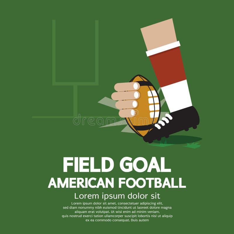 De Amerikaanse Voetbal van het gebiedsdoel royalty-vrije illustratie