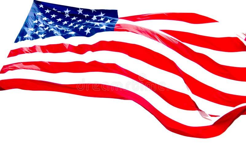 De Amerikaanse Witte Achtergrond van de Vlag stock afbeeldingen