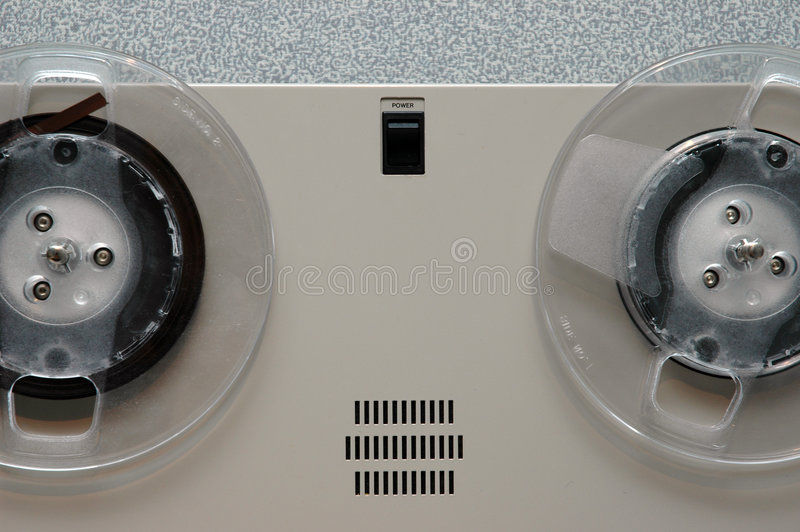 De analoge close-up van de bandmachine royalty-vrije stock afbeeldingen