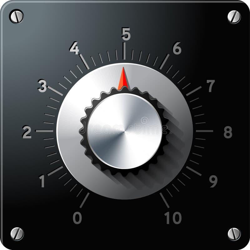De analoge interface van de regelgeverscontrole stock illustratie