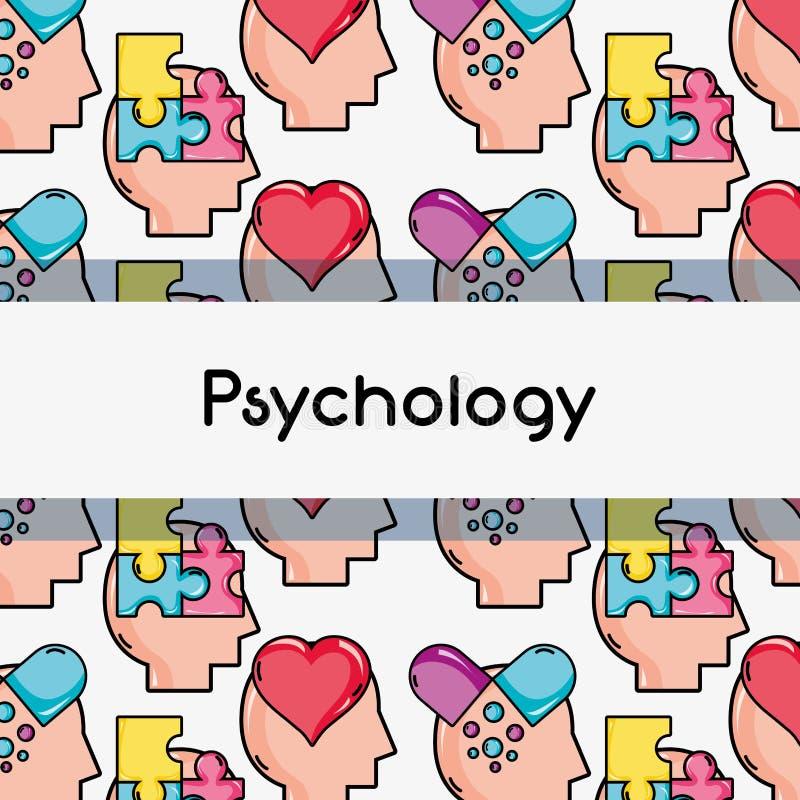 De analyse van de achtergrond psychologiebehandeling ontwerp vector illustratie