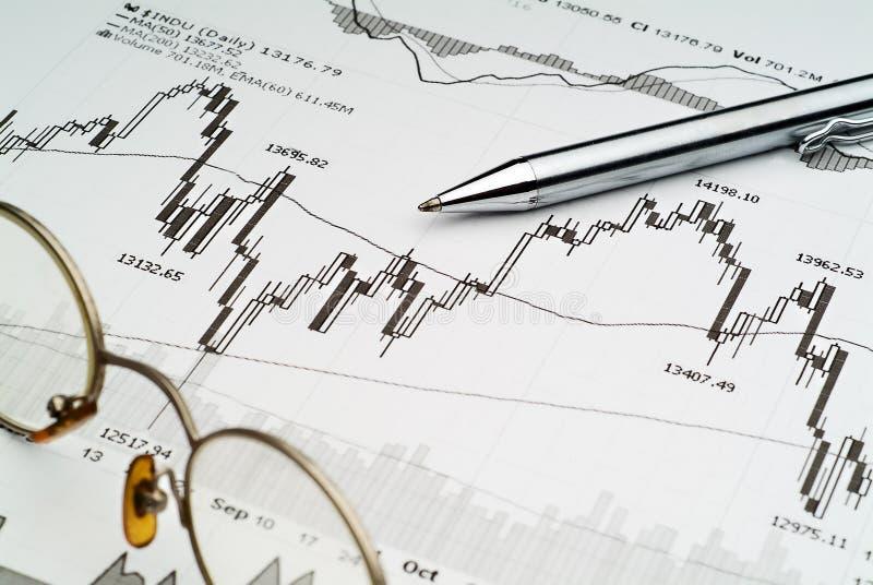De Analyse van de Effectenbeurs stock foto's