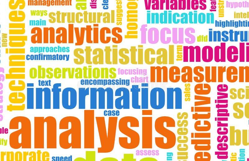 De Analyse van de informatie royalty-vrije illustratie