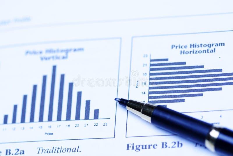 De analyse van de investering stock afbeeldingen
