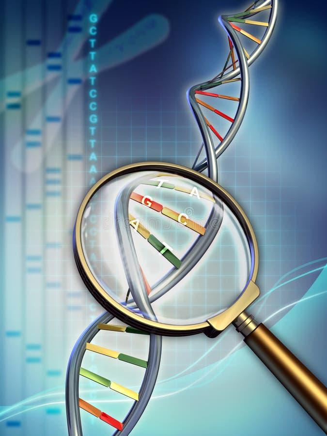 De analyse van DNA vector illustratie
