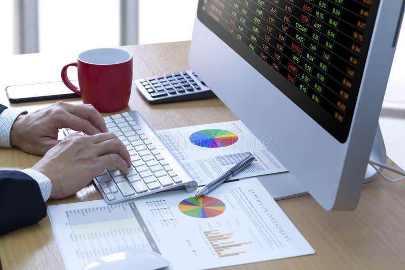 De Analyse van het Handelsinvesteringenrisico stock afbeelding