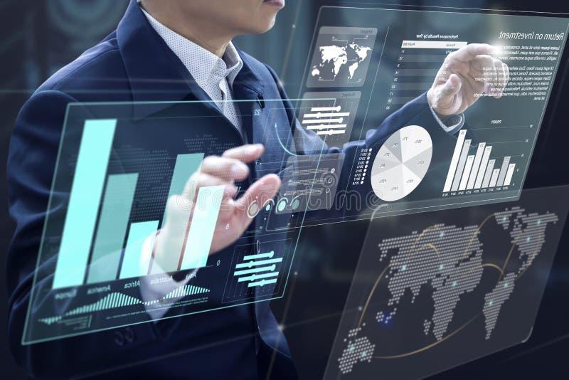 De Analyse van het Handelsinvesteringenrisico stock fotografie