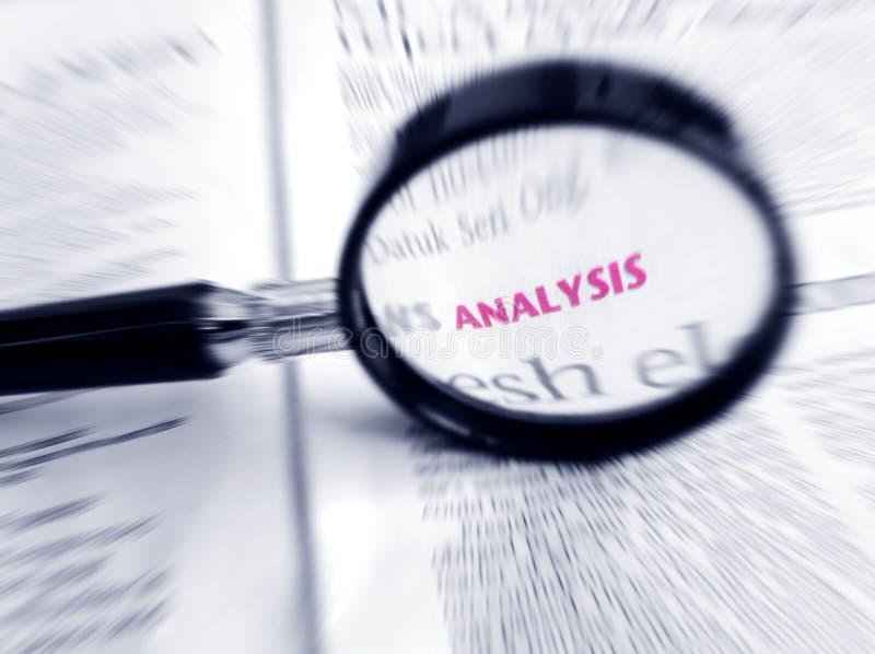 De Analyse van Word in nadruk royalty-vrije stock fotografie