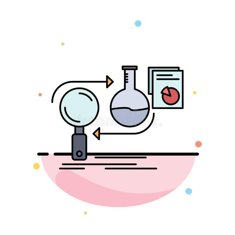 De analyse, zaken, ontwikkelt zich, ontwikkeling, het Pictogramvector van de markt Vlakke Kleur royalty-vrije illustratie