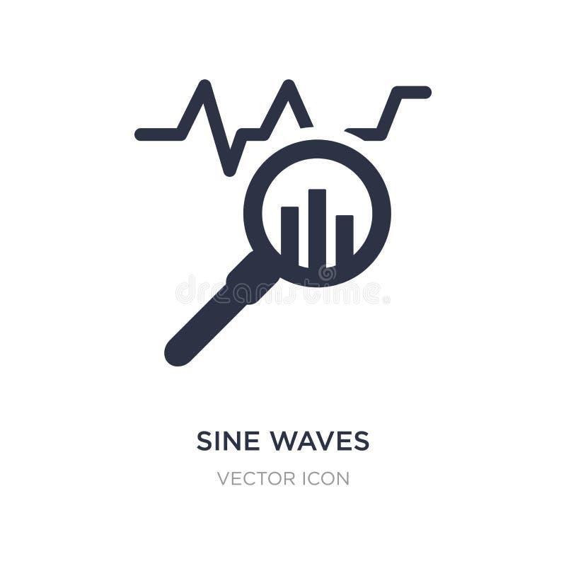 de analysepictogram van sinusgolven op witte achtergrond Eenvoudige elementenillustratie van Bedrijfs en analyticsconcept stock illustratie