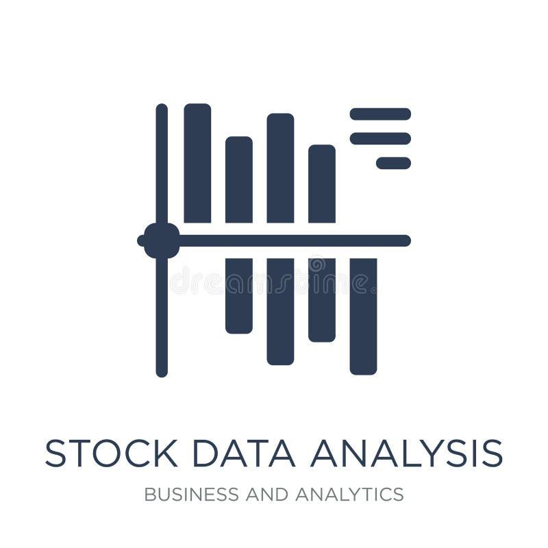 De analysepictogram van voorraadgegevens De in vlakke vectoranalyse van Voorraadgegevens royalty-vrije illustratie