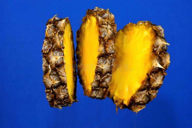 De ananas is een tropisch eeuwigdurend kruid, een populaire die delicatesse in het koken wordt gebruikt De ananas is waardevolle  stock fotografie