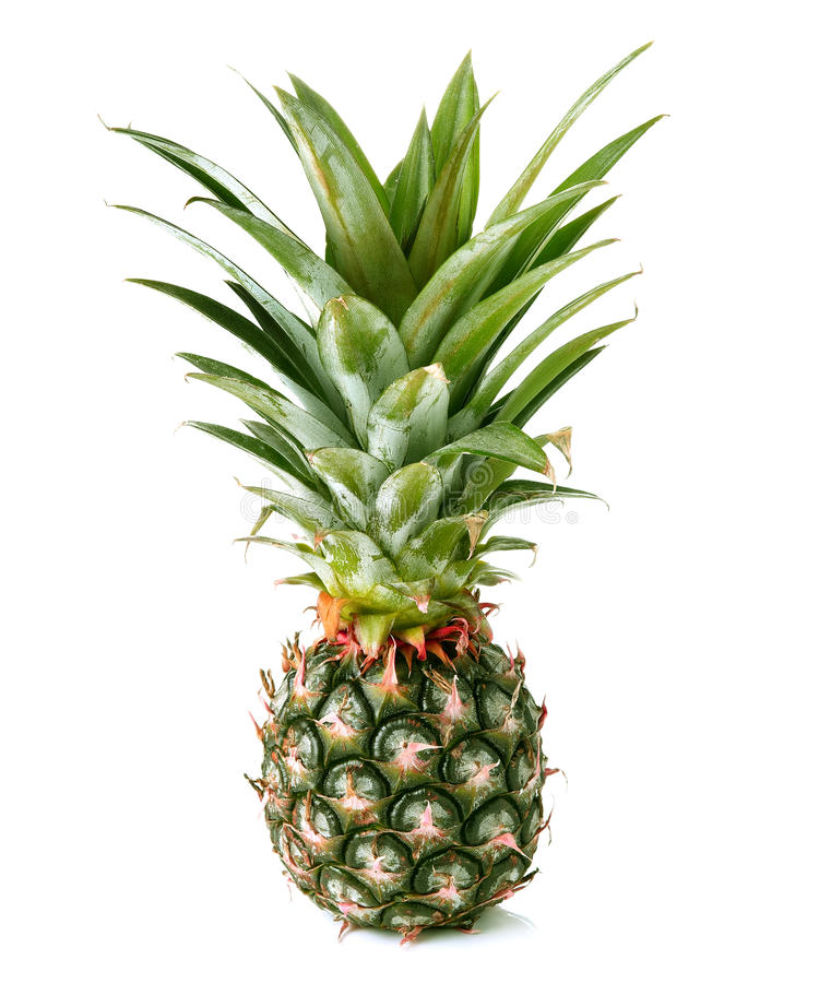 De ananas isoleerde witte backgound royalty-vrije stock foto