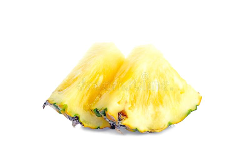 de ananas met plakken is stock fotografie