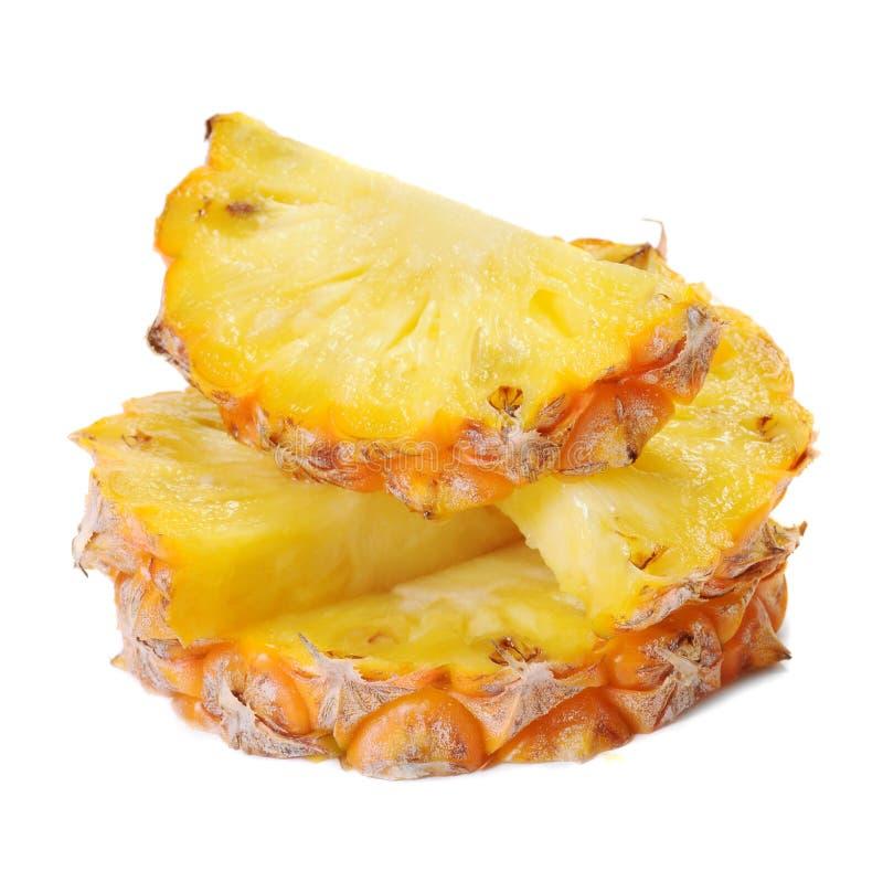 De ananasplakken van de ananas stock afbeeldingen