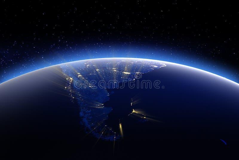 De Andes - Patagonië Elementen van dit die beeld door NASA wordt geleverd stock illustratie