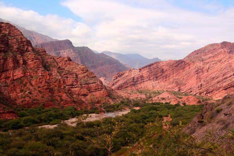 De Andes in Salta-provincie, Argentinië stock fotografie