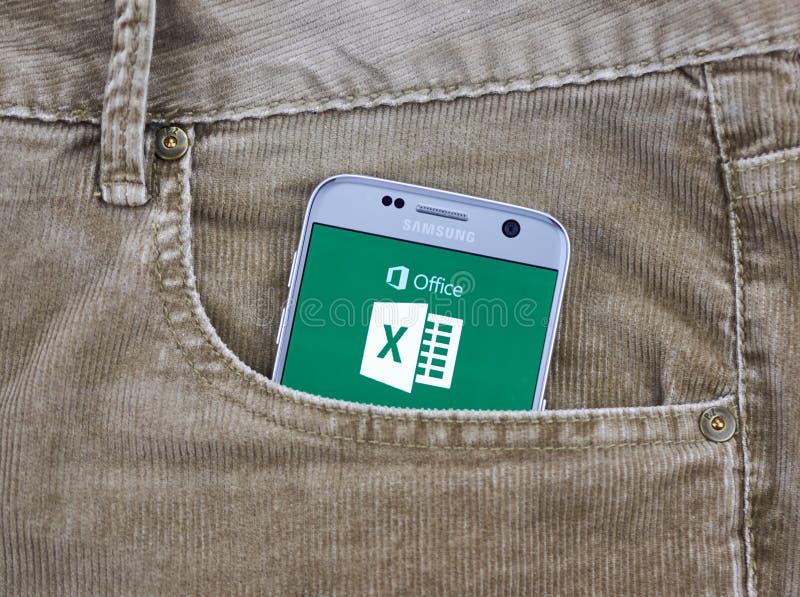 De androïde toepassing van Microsoft Office stock foto's