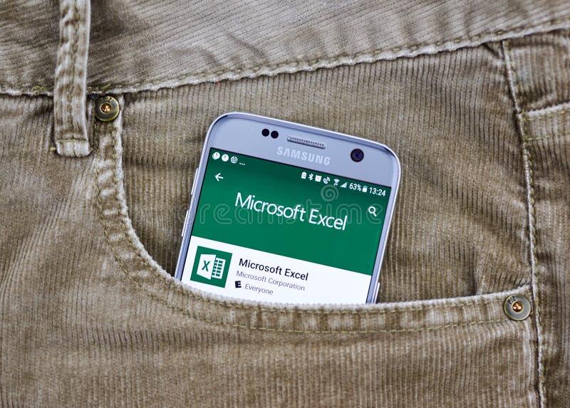 De androïde toepassing van Microsoft Office royalty-vrije stock afbeelding