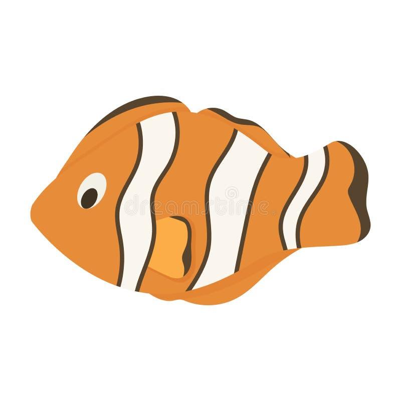 De anemoon overzeese van Nemovissen clownfish mariene dierlijke vectorillustratie stock illustratie