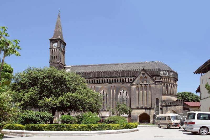 De Anglicaanse kathedraal van de Kerk van Christus in Steenstad, Zanzibar, Tanzania stock foto