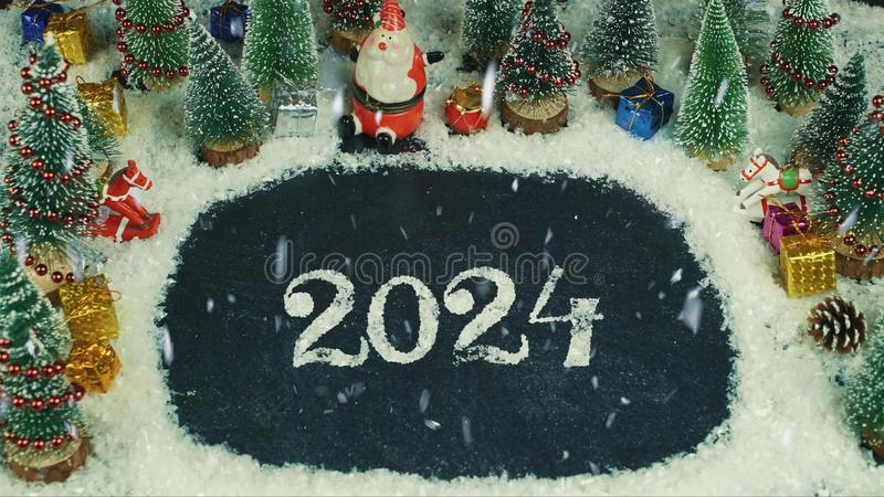 De animatie van de eindemotie van 2024 die van letters voorzien royalty-vrije illustratie