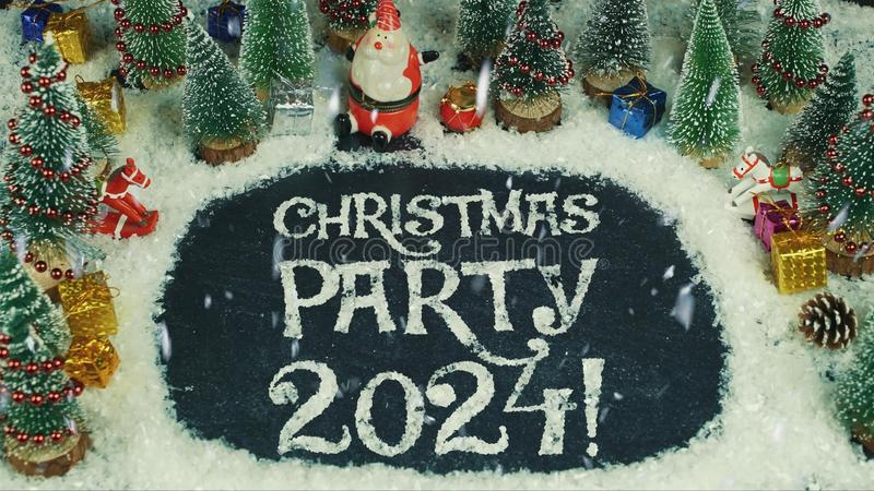 De animatie van de eindemotie van Kerstmispartij 2024 vector illustratie