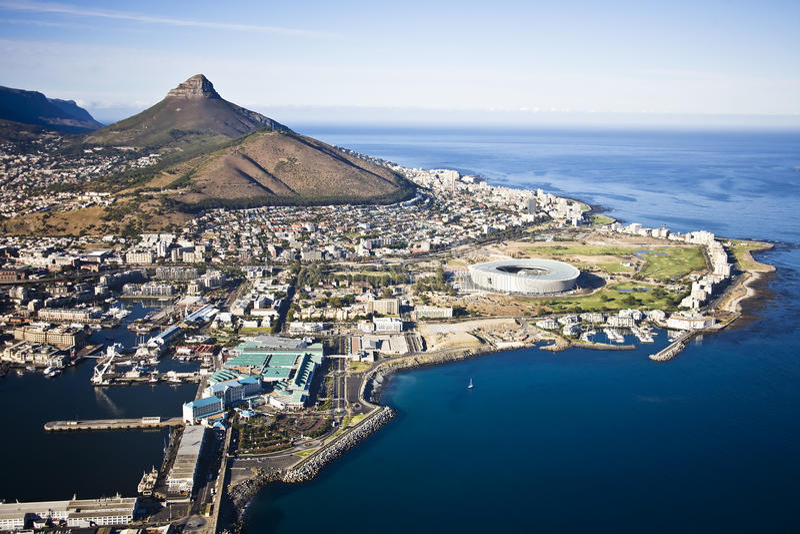 De Antenne van Cape Town royalty-vrije stock foto's